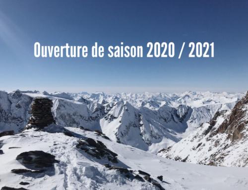 Ouverture de la saison 2020 / 2021 !